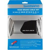 Shimano Polymer Coated Brake Cable Set - White - B00C45JADW