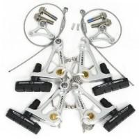 Tektro CR720 Cyclocross Cantilever Brake Set Front & Rear  Silver #ST1413_SILVER - B07D2CM2PW