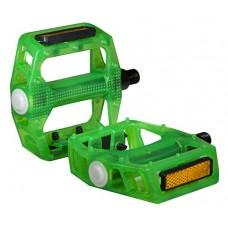 """Bike Pedal Translucent Green 1/2"""" Axle - B06XB2JKF9"""