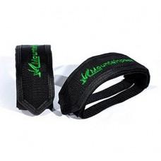 Senston 1 Pair New Bike MTB Cycling BMX Anti-Slip Pedals Double Magic Tape Pedal Toe Clips Straps Magic Tape Fixed Gear 5 Colors - B00X9JCB4C