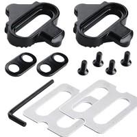 Zipefy Mountain Bike Pedals Cleats Set for SHIMANO SPD -(Black) - B07D9BVN9B