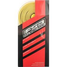 FSA GRT Road Drop Bar Bike Handlebar Tape w/ Plugs Cork Gel Yellow 186-0029 NEW - B01LZIT2JQ