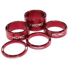 KCNC Hollow 1 1/8 Headset Spacer Set 3-5-10-14mm Road MTB Bike Cycling - B005M9CC14