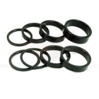 Wheels Manufacturing 1-1/8-Inch Spacer (Black/5mm  Bag of 5) - B001CK2MRQ