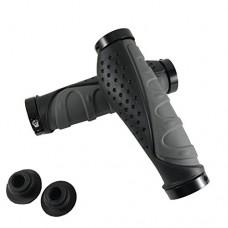 DEERU Ergonomic Design Bicycle Grips  Aluminum Alloy Lock Bicycle Handlebar Grips for MTB BMX Folding Bikes - B07D1ZFH3S