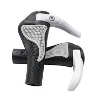 DEERU Protective Ergonomic Bike Handlebar Grips Bicycle Cycling Mountain Bike MTB Anti-slip Lock-On Ram's Horn Bar End - B074HZW5WS