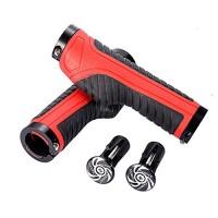 Kbrotech Bike Handlebar Grips with Aluminum Lock - Bicycle Rubber Handlebar Grips with Rubber Sponge Aluminum Handlebar End Plugs Bar End Caps(A Pair) - B07F8KLGYX