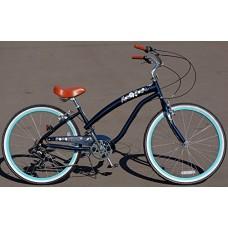 "Anti rust light weight aluminum alloy frame Fito Modena II alloy 7 speed 26"" womens wheel beach cruiser bike bicycle midnight blue - B018JV662C"