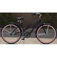 "Colby Cruisers Tiara 26"" Beach Cruiser Bicycle (Black/Coral) - B07G7HKHS9"