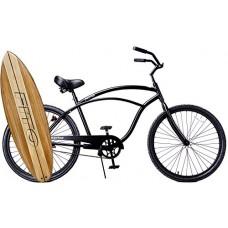 "Fito Anti-Rust & Light Weight Aluminum Alloy Frame  Marina Alloy 1-speed for men - All Matte Black  26"" wheel Beach Cruiser Bike Bicycle - B0173UX79K"