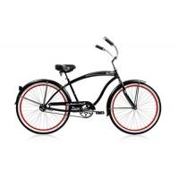 "Micargi Rover GX 1-speed for men (BLACK/RED)  26"" Beach Cruiser Bike Schwinn Nirve Firmstrong Style - B00ABW4I9Q"