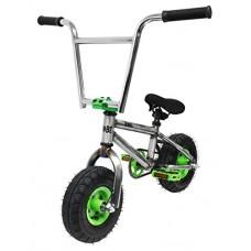 """Kobe """"Rusty Rat Rod"""" Mini BMX - Raw + Green - Freestyle  Trick  Stunt Bicycle 10"""" Wheels - B075JR3MPX"""